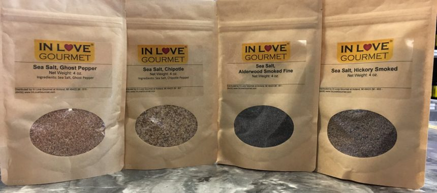 New Smoked Sea Salts & Pepper Infused Sea Salts
