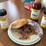 Da-BOMB Smoked Pulled Pork Sandwiches with Chipotle Olive Oil & Famous BBQ Rub.