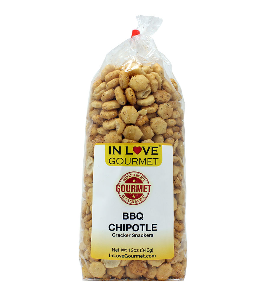 BBQ Chipotle Gourmet Cracker Snackers (12oz) Great for Soups, Chili, and Delicious Snacks
