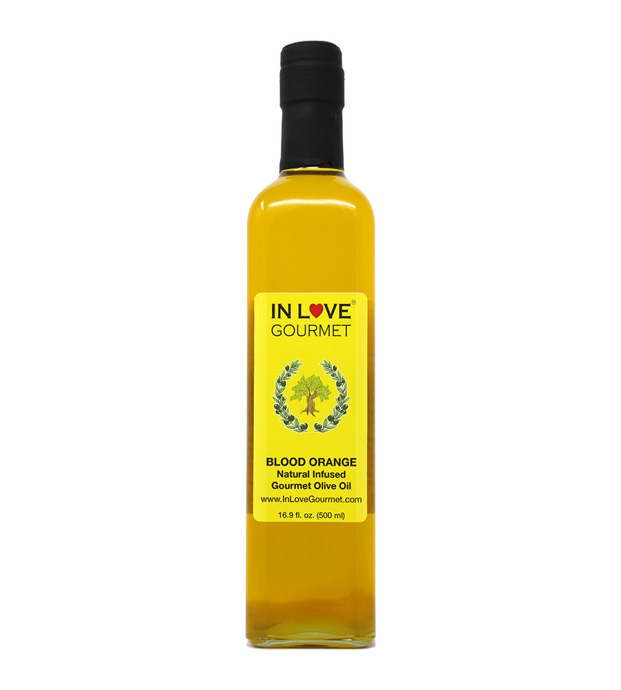 Blood Orange Natural Flavor Infused Olive Oil 500ML/16.9oz Great as Stand Alone Green Salad Dressing