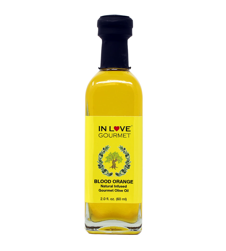 Blood Orange Natural Flavor Infused Olive Oil 60ML/2oz (Sample Size) Great as Stand Alone Green Salad Dressing
