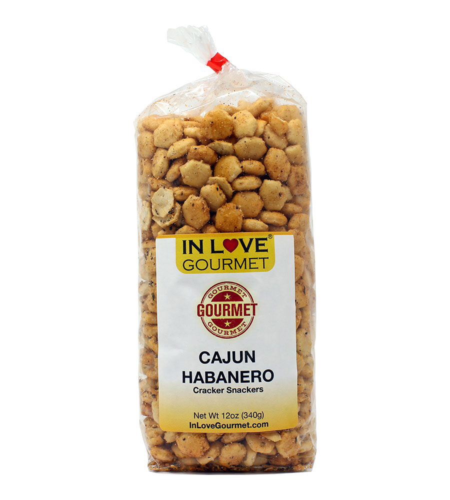 Cajun Habanero Gourmet Cracker Snackers (12oz) Great for Soups, Chili, and Delicious Snacks
