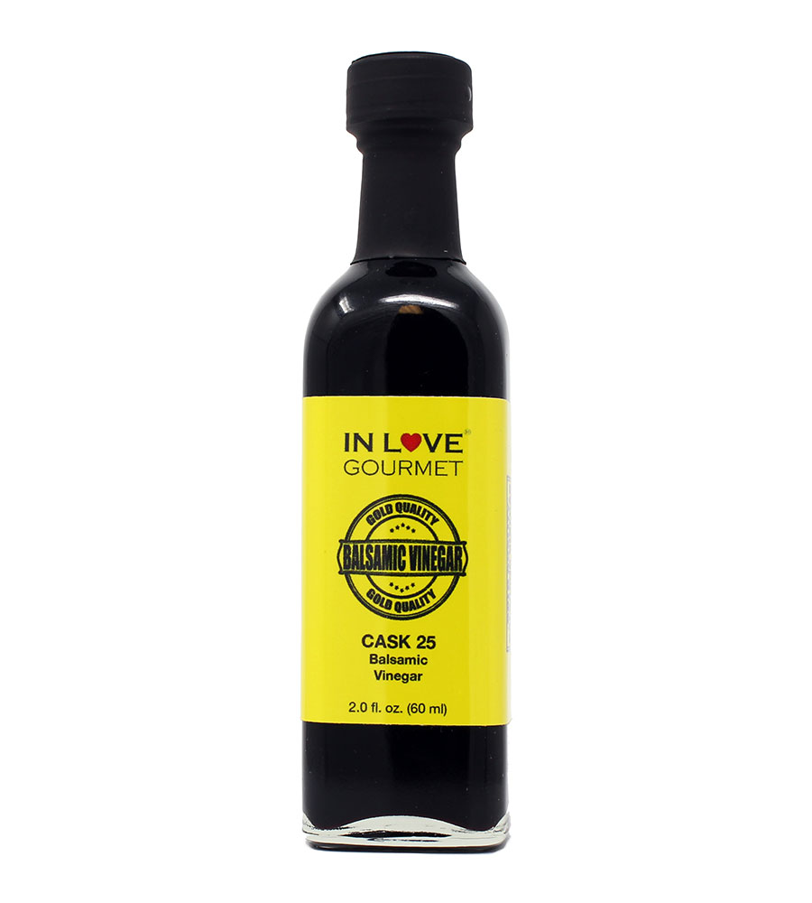 Cask 25 Balsamic Vinegar 60ml-2oz (Sample Size) Premium cask-aged balsamic vinegar from Modena, Italy