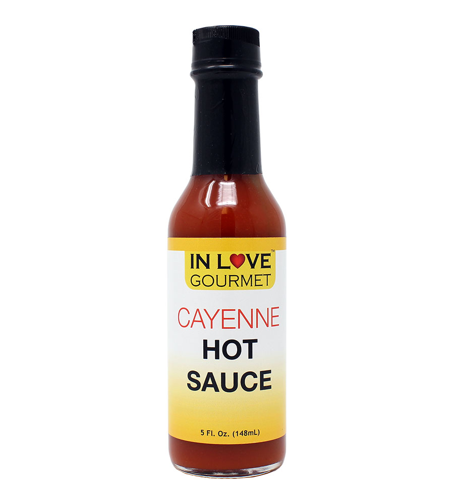 Cayenne Hot Sauce 5 fl. oz. Authentic Louisiana Style Hot Sauce, Cayenne Pepper Sauce