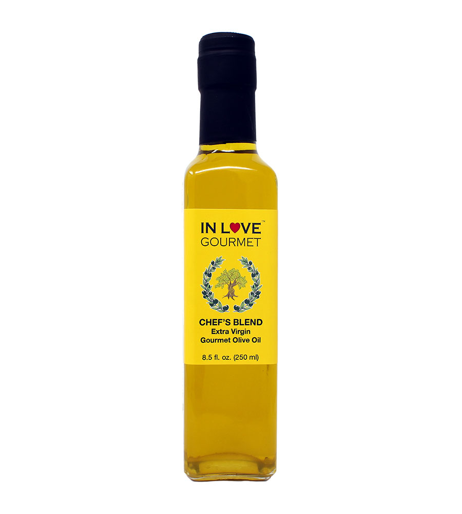Chef's Blend Extra Virgin Olive Oil 250ML/8.5oz All Purpose Gourmet Extra Virgin Olive Oil