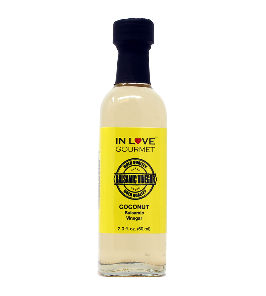 Coconut Balsamic Vinegar 60ML/2oz (Sample Size) Coconut Salad Dressing, Give a Unique Tropical Island Flair to Your Dishes
