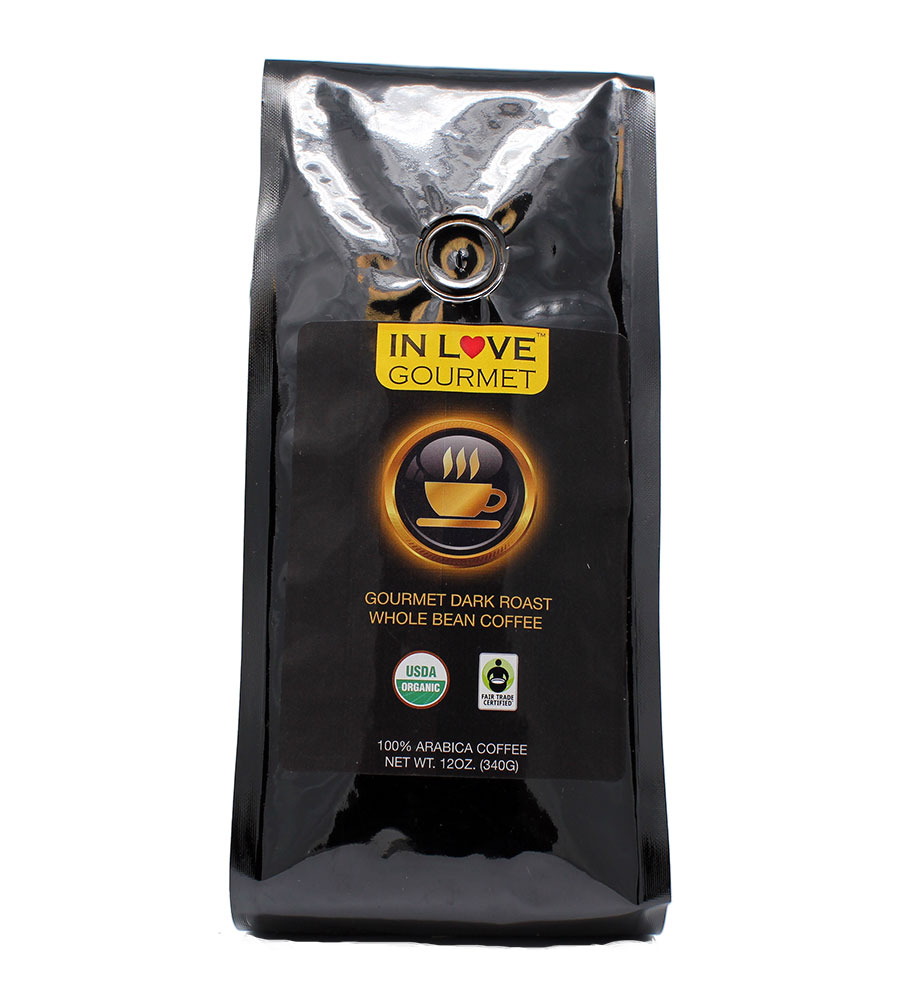 Dark French Roast Organic Coffee, 12 oz, Whole Bean, Bold Strong Rich Intensely Good Coffee! Great Brewed or Espresso, USDA Certified Fair Trade Organic, 100% Arabica Coffee, NON-GMO
