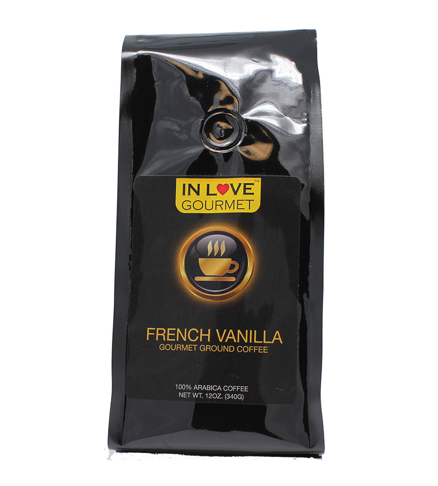 French Vanilla 12oz, Gourmet Flavored Ground 100% Arabica Coffee