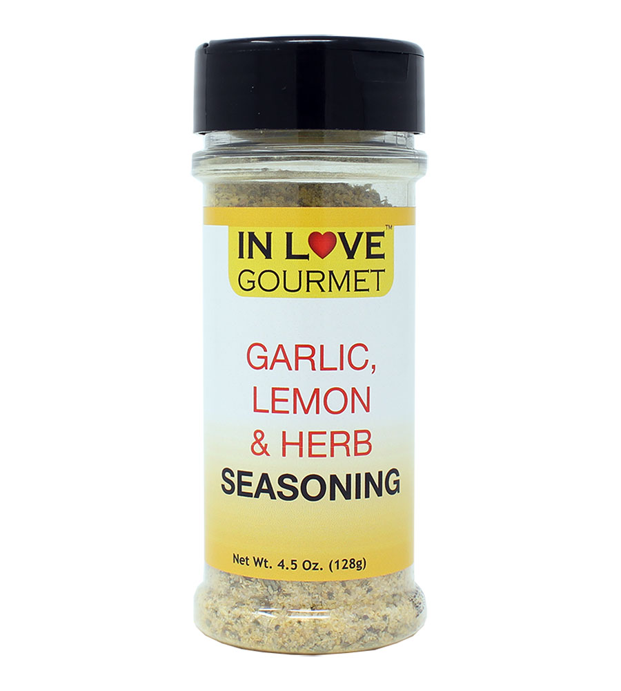 Garlic, Lemon & Herb Seasoning 4.5 oz. - Italian Seasoning, Chicken Seasoning, Great on all meats