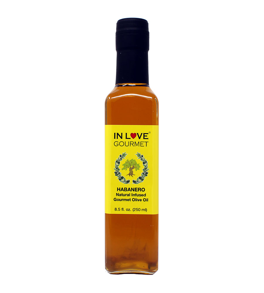 Habanero Natural Flavor Infused Olive Oil 250ML/8.5oz Spicy Habanero Oil, Spice up your Fish, Chicken, Veggies, & Pastas.