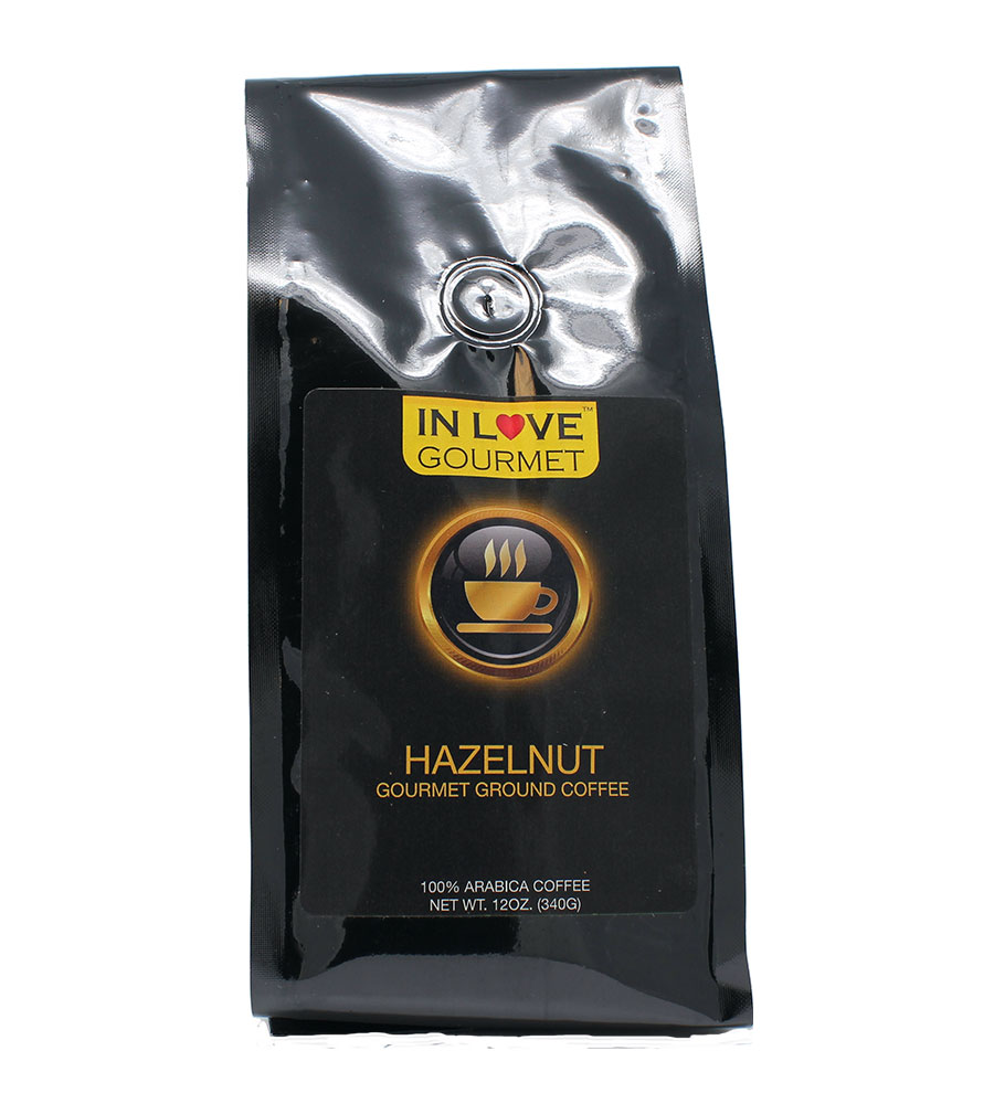 Hazelnut 12oz,  Gourmet Flavored Ground 100% Arabica Coffee