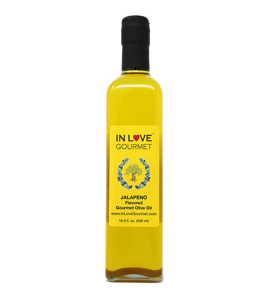 Jalapeno Natural Flavor Infused Olive Oil 500ML/16.9oz Jalapeno Lovers Blend, Spice Up Your Food with Authentic Jalapeno Flavor