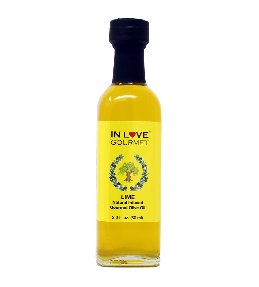 Lime Natural Flavor Infused Gourmet Olive Oil 60ML/2oz (Sample Size) Drizzle on Tortilla Soup, in Ceviche, with Watermelon and Feta Salad, in Salsas and Fish Tacos