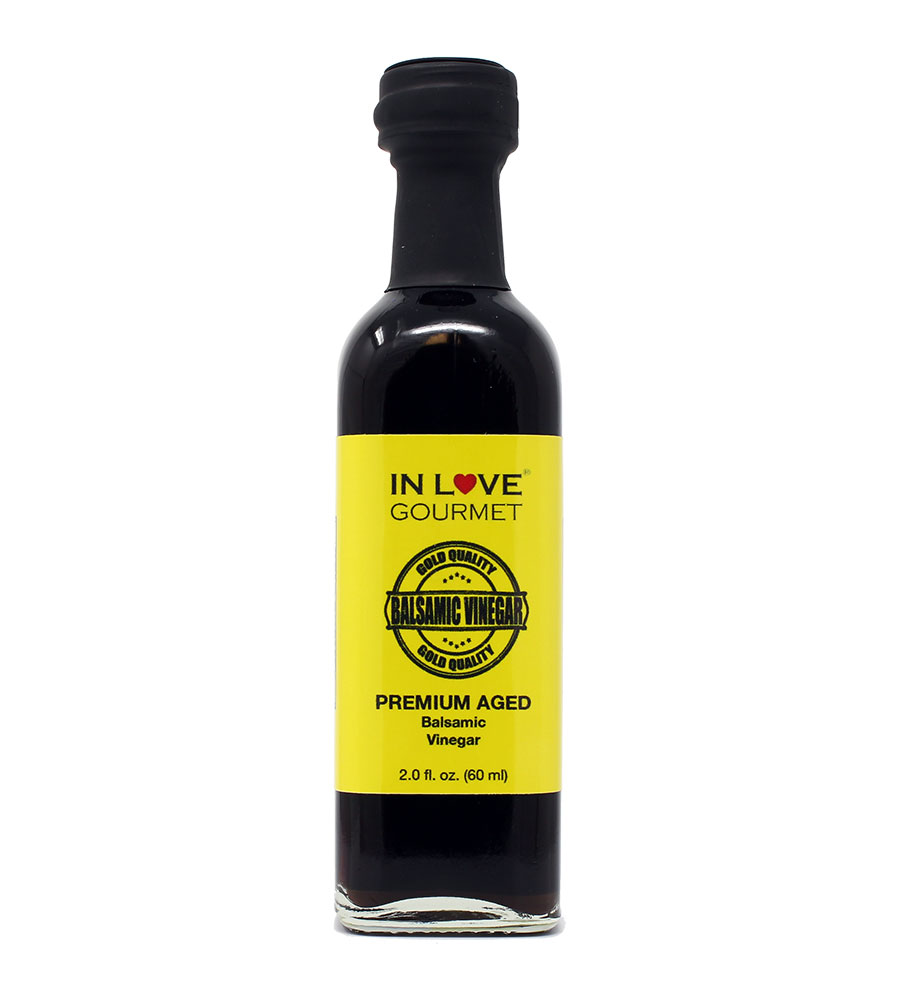 Premium Aged Balsamic Vinegar 60ML/2oz (Sample Size) Use as your any day, everyday vinaigrette mix with our flavor infused extra virgin olive oils or as a stand alone salad dressing