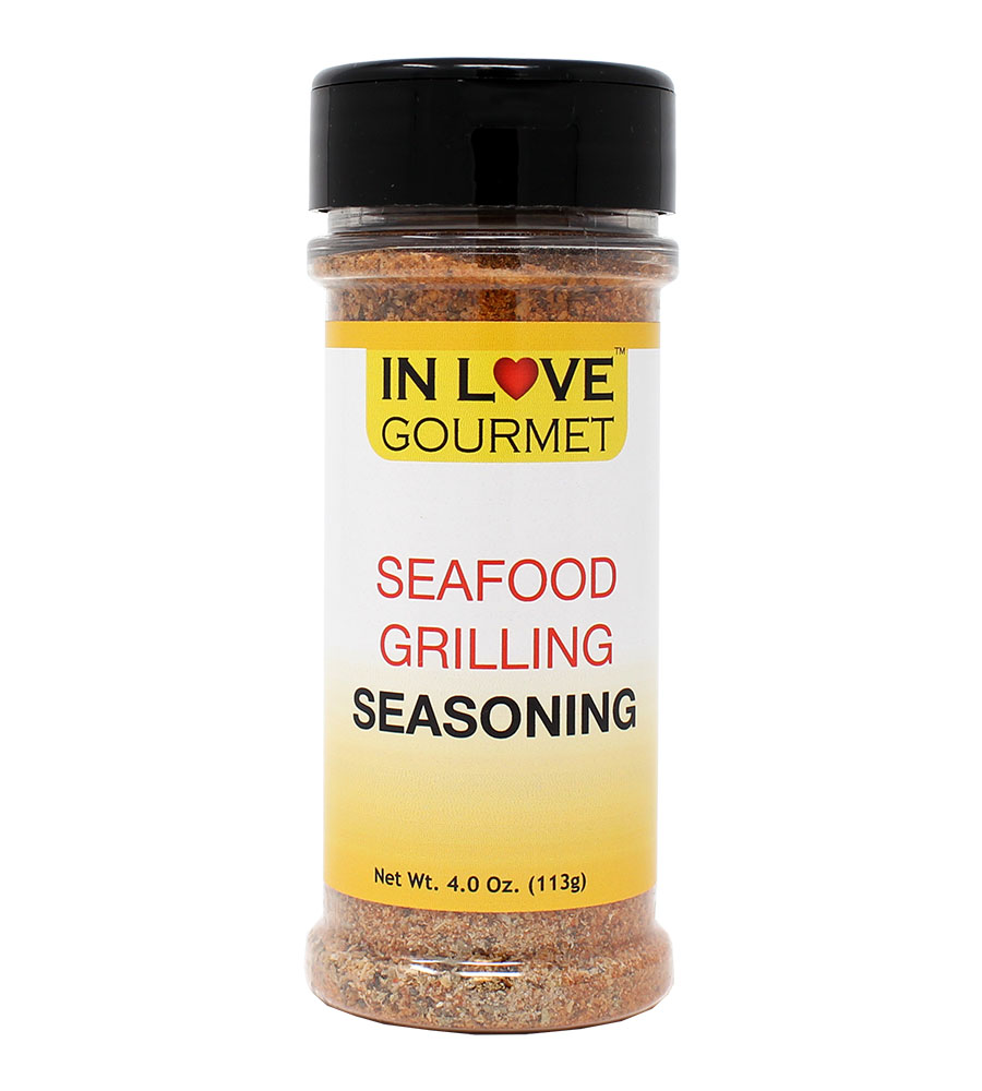 Seafood Grilling Seasoning 4.0 oz. Salmon Seasoning, Fish Seasoning, Shrimp Seasoning, Seafood Seasoning Mix