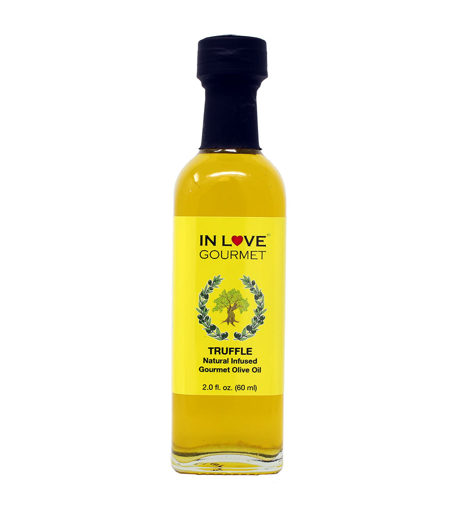 White Truffle Natural Flavor Infused Olive Oil 60ML/2oz (Sample Size) Great on Everything, Pasta, Goat Cheese, Polenta, Risotto, Salad Dressing
