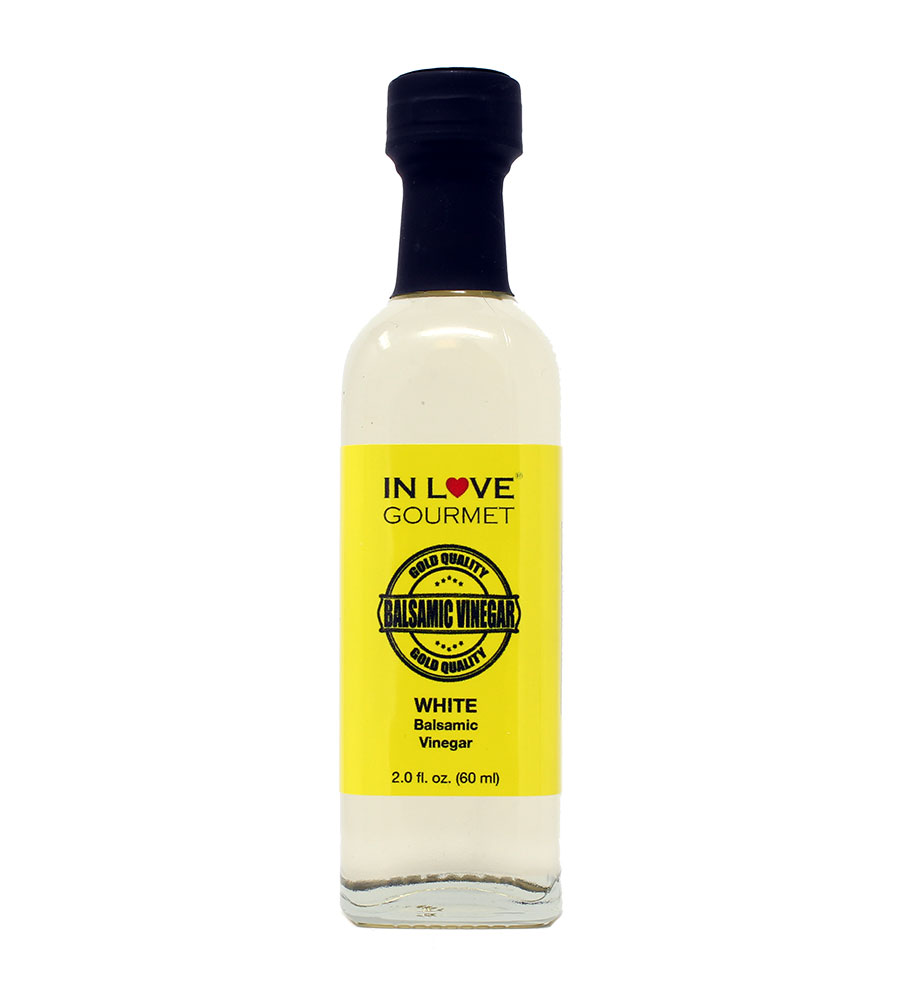 White Balsamic Vinegar 60ml/2oz (Sample Size) Excellent as a Stand Alone Salad Dressing, Great Mixed with Fresh Cut Vegetables, Dress with Any of Our Extra Virgin Olive Oils
