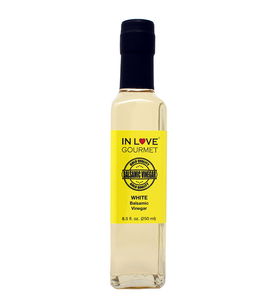 White Balsamic Vinegar 250ML/8.5oz Excellent as a Stand Alone Salad Dressing, Great Mixed with Fresh Cut Vegetables, Dress with Any of Our Extra Virgin Olive Oils
