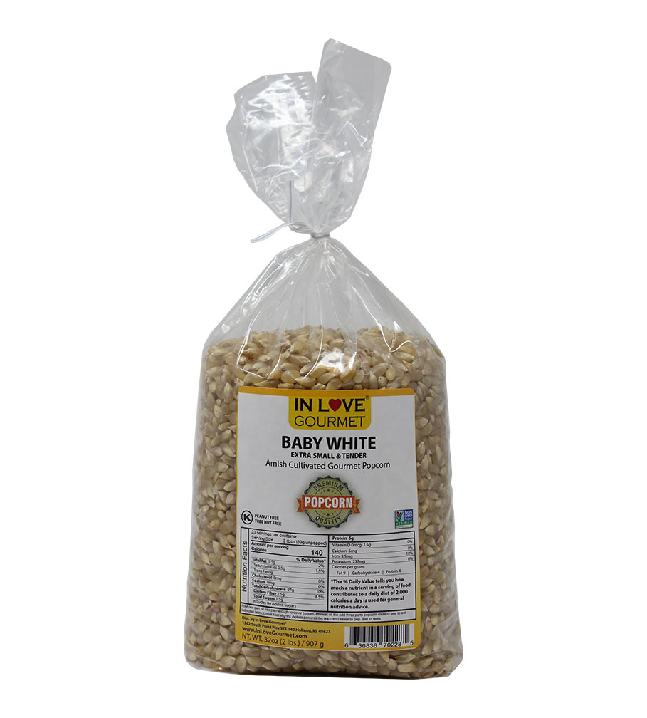 Baby White Gourmet Amish Popcorn 2lb Bag