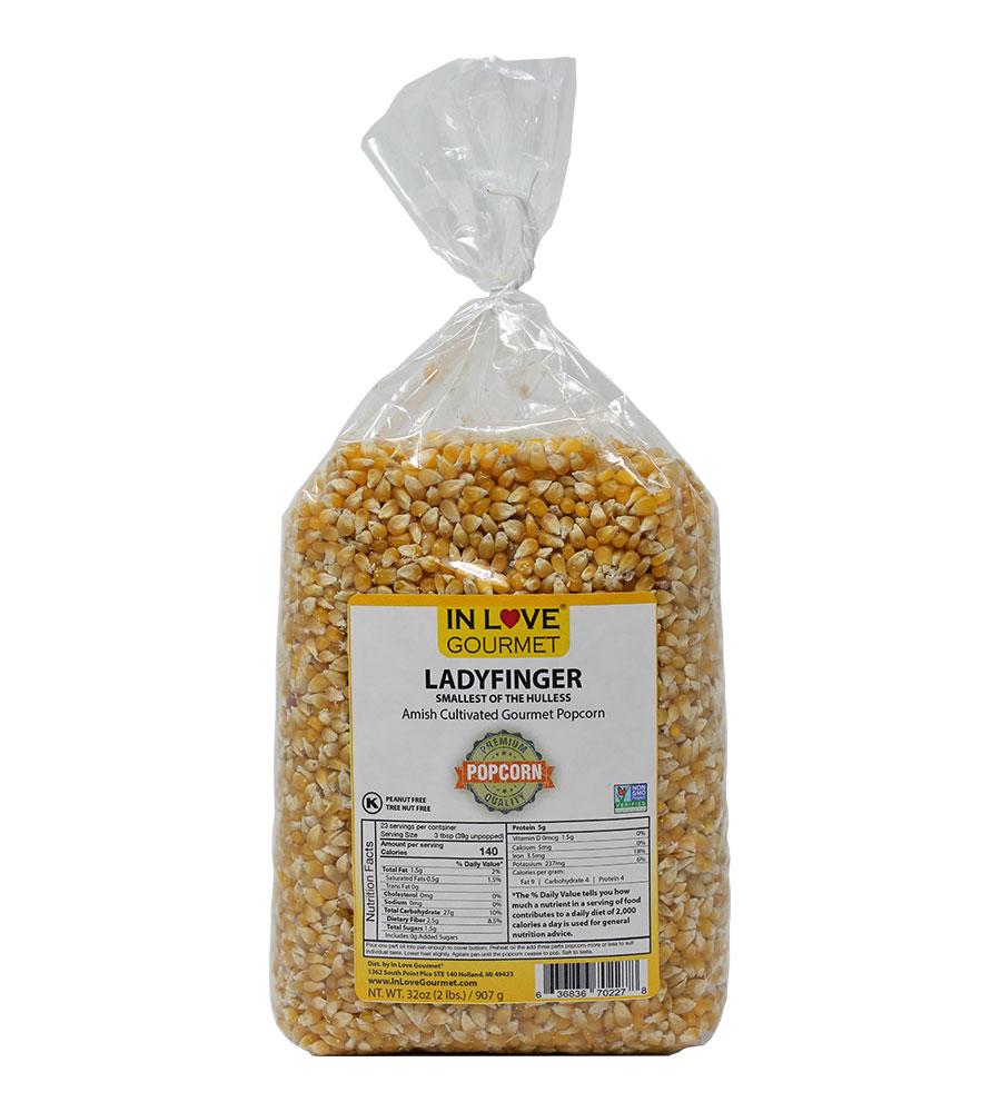 Ladyfinger Gourmet Amish Popcorn 2lb Bag