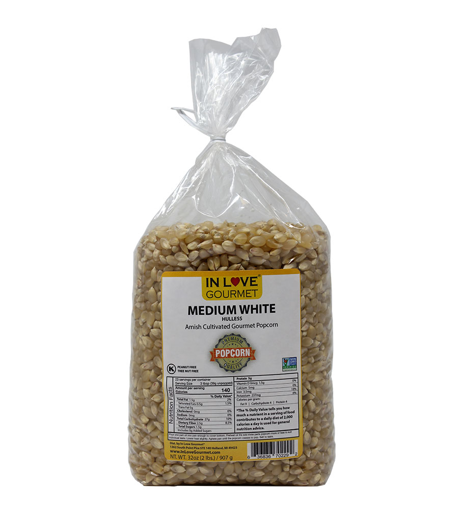 Medium White Gourmet Amish Popcorn 2lb Bag