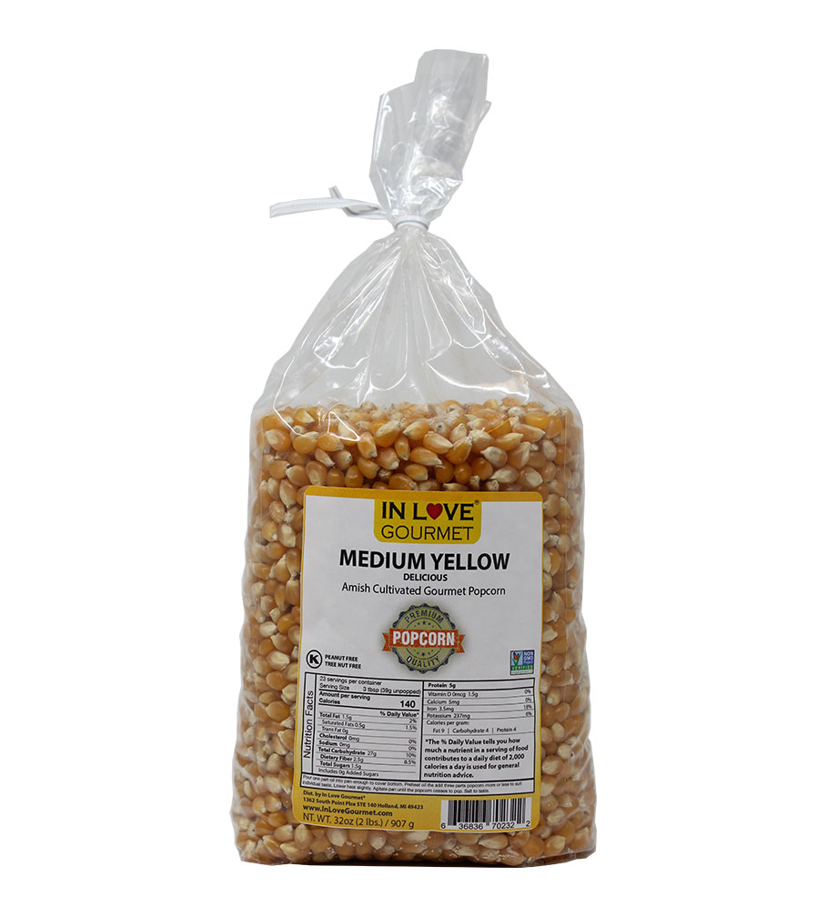 Medium Yellow Gourmet Amish Popcorn 2lb Bag