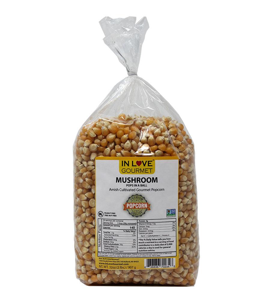 Mushroom Gourmet Amish Popcorn 2lb Bag