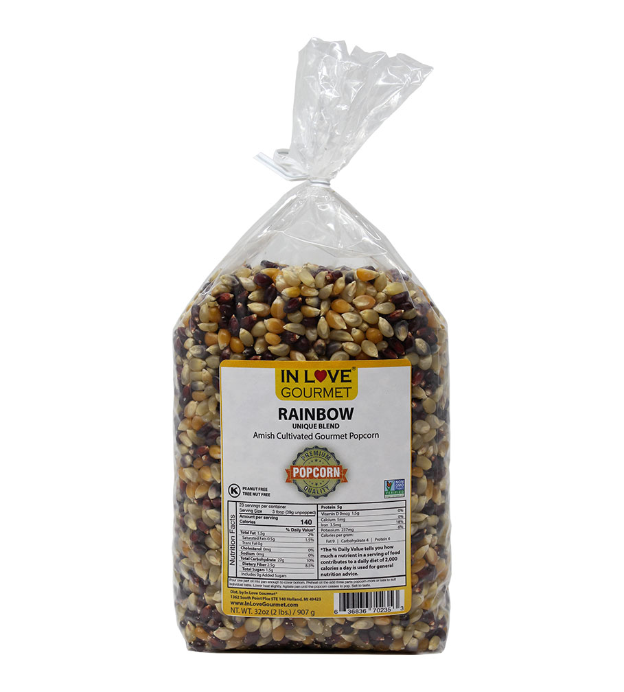 Rainbow Gourmet Amish Popcorn 2lb Bag