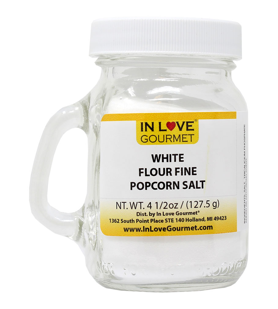 Fine White Fresh Popcorn Salt