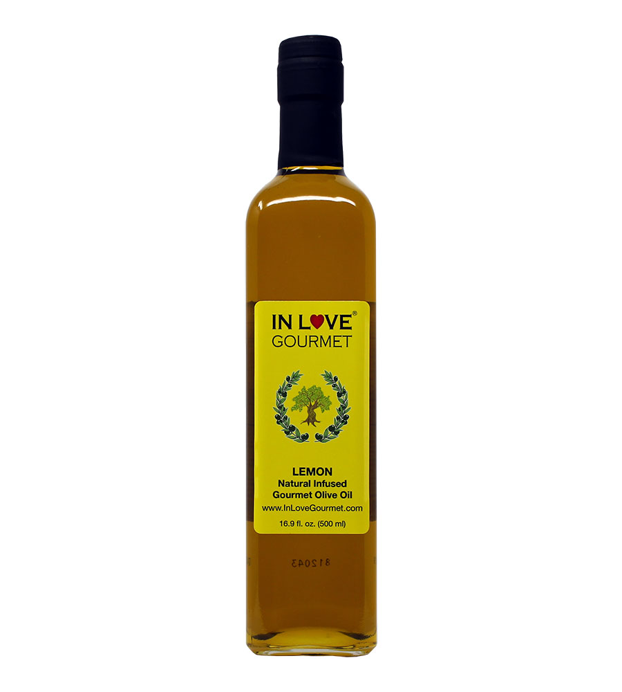 Lemon Natural Flavor Infused Olive Oil 500ML/16.9oz An Excellent Dressing on Fish, Chicken, Salads