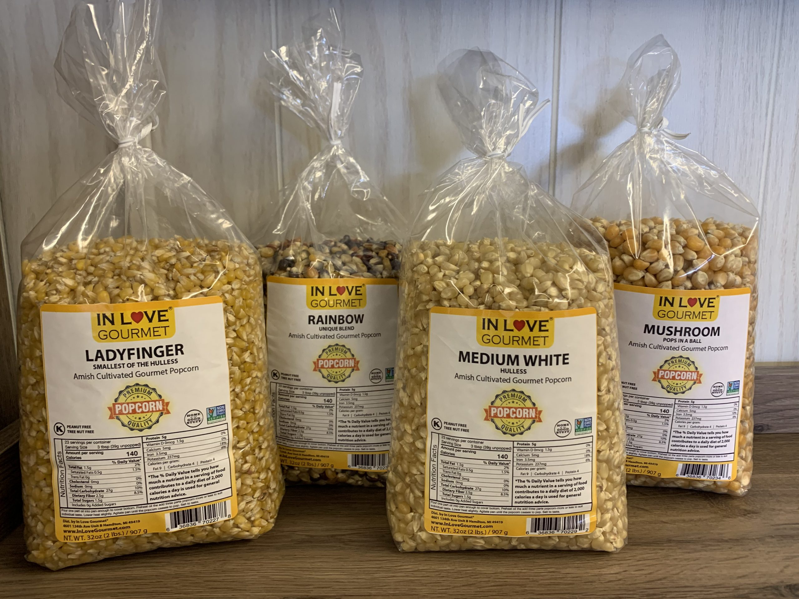 Gourmet Amish Popcorn 2lb Bag 4-PK - Create Your Own Custom 4 Pack